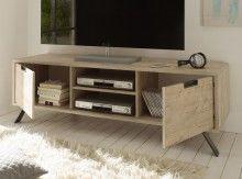 Modern Italian TV Stand Palma by LC Mobili Sherwood Oak