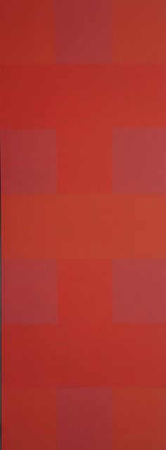 Red by Ed Reinhardt, 1952: Oil on canvas. 108 x 40 1/8""