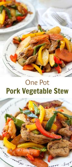 You will love this One Pot Pork Vegetable Stew. It's easy to prepare and super comforting. It's a perfect meal for busy weekdays that your family will enjoy.