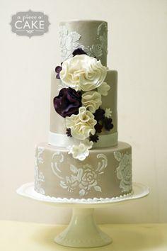 """Romantic Champagne Wedding Cake"""