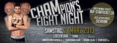 02.03.2013 Janosch Nietlispach greift nach dem WM Titel - Fightcard