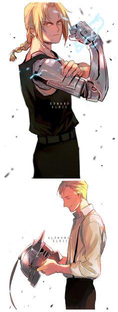 Anime: Fullmetal Alchemist: Brotherhood Personagens: Edward e Al Elric