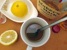 Bourbon Hot Toddy  1 1/2 oz bourbon  juice of 1/2 lemon, about 3/4 oz  2 oz hot water  1 teaspoon honey