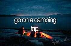 bucket list #camping