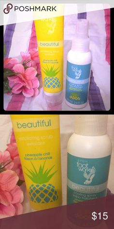 Footworks Brand new beautiful exfoliating foot scrub and a beautiful cooling spray Avon Other
