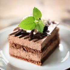 Torta gelata al cioccomenta
