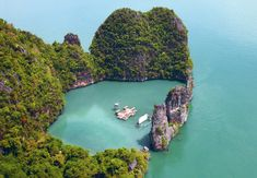 Film on the Rocks Festival Archipelago Cinema  on the Thai island of Yao Noi by German architect Ole Scheeren