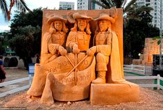 Песчаные скульптуры, Israel. 2013.