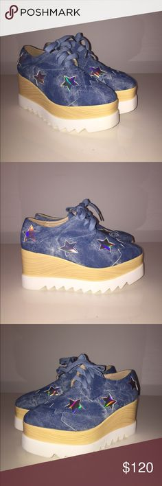 Super cute star platform shoes NWT Super cute platform shoes NWT.  Tagged Stella McCartney for views.    3.5 inch platform Stella McCartney Shoes