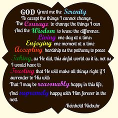 The Serenity Prayer Saturday, June 2015 Today's thought from Hazelden Betty Ford Foundation is: I wish you a slow recovery. Addiction Quotes, Addiction Recovery, Dysfunctional Family Quotes, Inspirational Readings, Ford Foundation, Betty Ford, Recovering Addict, Life Hurts, Spirit Quotes