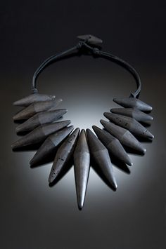 morrow_blackspindlenecklace nina morrow's driftwood jewelry Morrow uses bleached cottonwood that she finds along the banks of the Rio Grande. . .most fitting for a grand collection of jewelry.