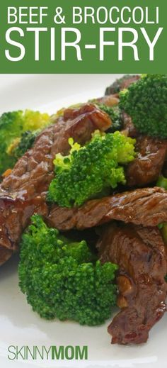Skinny Beef and Broccoli Stir Fry! Great healthy version of this family favorite meal! Low calorie low fat and high protein!