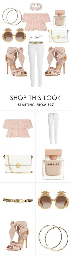 """""""Untitled #323"""" by j-reed ❤ liked on Polyvore featuring Miguelina, Paige Denim, Tory Burch, Narciso Rodriguez, Chanel, Gucci and Alexandre Birman"""