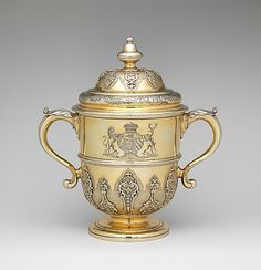 Two-handled cup with cover Thomas Farren  (British, active 1703–43) Date: 1732 Culture: British, London Medium: Silver gilt