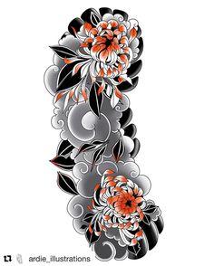 #Repost @ardie_illustrations 🙏🙏 #irezumi #tattoo #tattoosketch #japanesetattoo #japanesetattoodesign #wabori #tattoodesign #horimono #orientaltattoodesign #addflash_ @addflash_
