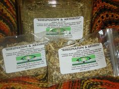 Rheumatism & Arthritis Anti-Inflammatory Herbal Tea Blend by Queen of Trees Herbal.  Also, Gout, Lupus, Neuritis, Fibrositis and more. $9.99, via Etsy.