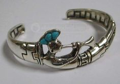 shopgoodwill.com: Sterling Silver Turquoise Kokopelli Bangle