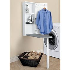 What a creative solution to ironing storage! And it'd be super easy to make, too...
