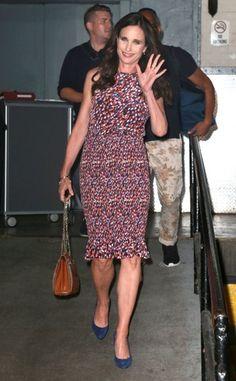 Andie MacDowell Photos Photos - Celebrities visit the Sirius XM Radio studios in New York City, New York on July 8, 2015. - Celebrities Visit Sirius XM Radio Studios