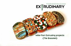 Millefiori Extruded Canes - Tile Beads Bracelet Tutorial