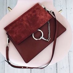 Chloe Faye bag edgy 90s chain meets 70s style meets modern contemporary look. It bag for fall. Chloe Faye bag. Rare color combo. Purple suede and burgundy Chloe Bags