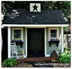 Cute !! Want to do this to the shed!