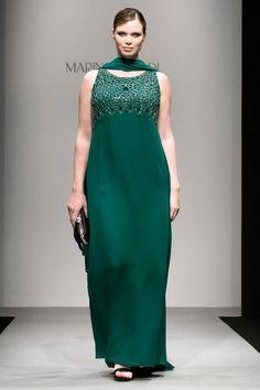Вечернее платье нарядное для полных от Marina Rinaldi зеленое
