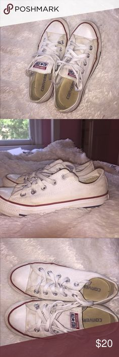 low top white converse still pretty white- could be washed Converse Shoes Sneakers
