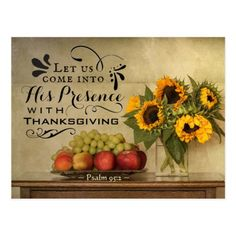 Shop Psalm Into His Presence with Thanksgiving Postcard created by CChristianDesigns. Thanksgiving Bulletin Boards, Thanksgiving Messages, Thanksgiving Blessings, Happy Thanksgiving, Thanksgiving Drawings, Thanksgiving Letter, Church Sign Sayings, Church Signs, Bible Verses Quotes Inspirational