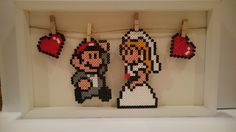Super Mario Wedding decorations perler beads by PixelGamerGirl
