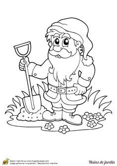 Coloriage dessins dessins imprimer et la couleur en - Coloriage nain de jardin ...