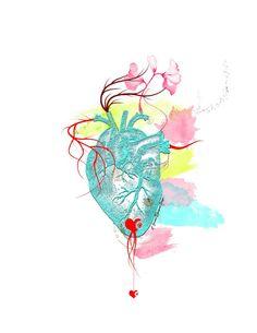 Heart & Watercolor   Singe