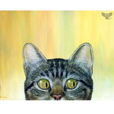"Original Acrylic Painting ""Peeping Tom I"""