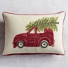 Beaded Tree on Car Lumbar Pillow | Pier 1 Imports