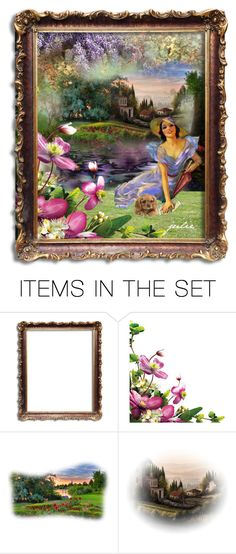 """Victorian Garden Contest..  Polly & Poppy!"" by julidrops ❤ liked on Polyvore featuring art"