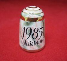 Old Thimble Bouchet Original Jersey British Isles Agateware Christmas 1985 M7