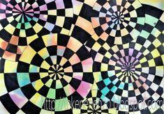Benodigdheden:  wit tekenpapier op A4 formaat  ecoline  pot water  passer  liniaal  potlood  watervaste zwarte stiften  Henrique José Teixei...