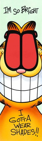 Garfield Airbrushed Artwork - I'm So Bright Bookmark