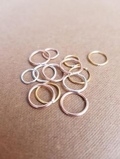 Thin nose ring forward helix earring hoop sterling silver