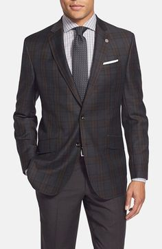 Ted+Baker+London+'Jones'+Trim+Fit+Plaid+Wool+Sport+Coat+available+at+#Nordstrom