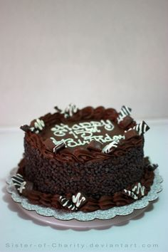 1000+ images about chocolate frosted cakes on Pinterest ...