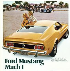 1973 Ford Mustang fastback Mach 1 advertisement