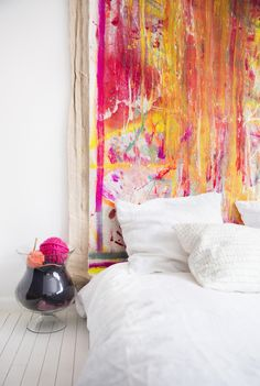 Art as a headboard