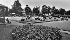 Old photograph of the Lawn Bowling Green in South Inch Park in Perth, Perthshire, Scotland