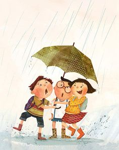 Charming children's illustrations by jaime kim illustration Art And Illustration, Illustration Mignonne, Illustrations And Posters, Character Illustration, Friends Illustration, Illustration Children, Image Digital, Clipart, Book Art