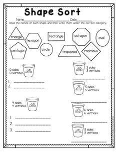 Have fun teaching shapes and their attributes with Shape Sort. Perfect for Earth Day! This is part of a Spring Literacy and Math No Prep Bundle for Second Grade that is full of no prep ELA and math printables for the entire season! This unit covers spring, St. Patrick's Day, Easter, Earth Day and Cinco de Mayo!