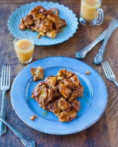 Pumpkin Cinnamon Overnight Pull-Apart French Toast with Vanilla Maple Butter