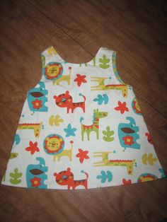Reversible Open Back Baby Dress and Toddler Top by vintagetwilight