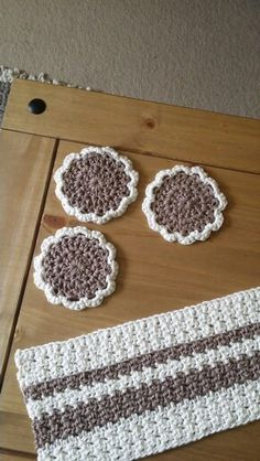 Crocheted Cotton Coasters for our living room
