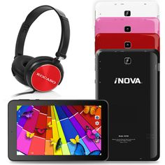 "iNova 7"" Tablet w/Stereo Headphones - Android 4.4 Wi-Fi Quad Core Dual Camera #iNova"